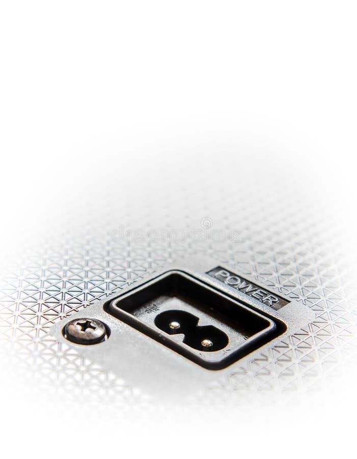 Κενό ηλεκτρικό βούλωμα για στενό επάνω καλωδίων στοκ εικόνα