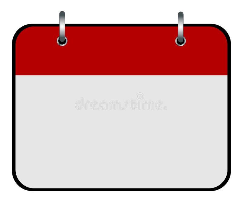 Κενό ημερολογιακό εικονίδιο διανυσματική απεικόνιση
