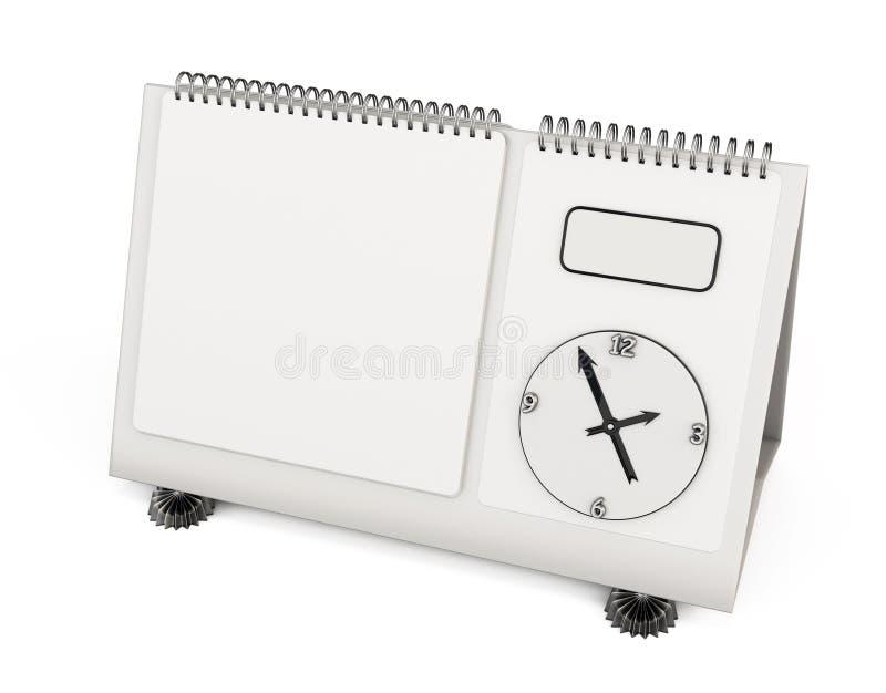 Κενό ημερολόγιο γραφείων προτύπων τρισδιάστατος ελεύθερη απεικόνιση δικαιώματος