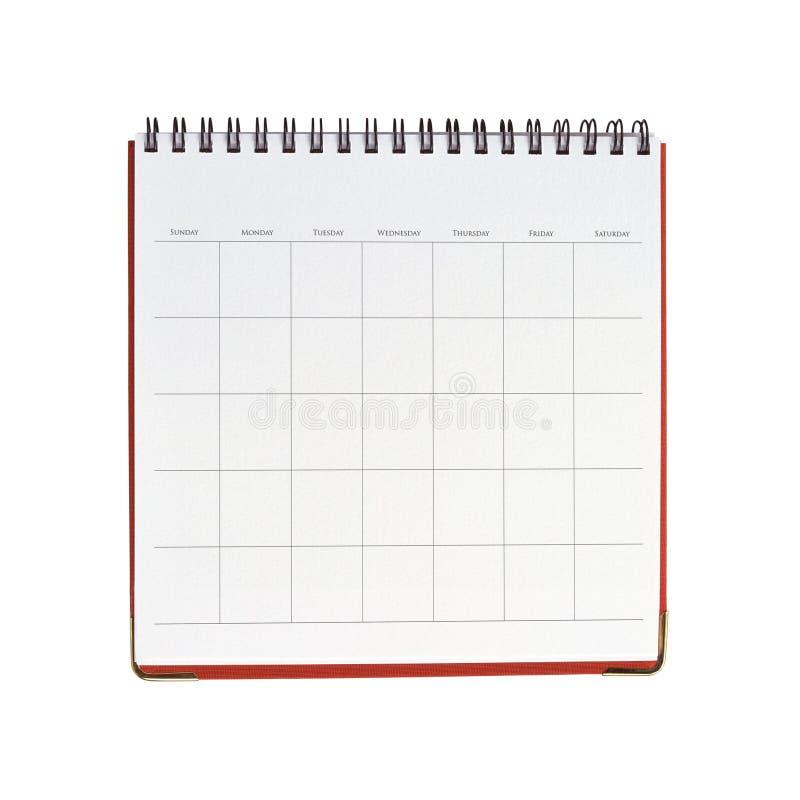 κενό ημερολόγιο στοκ εικόνα