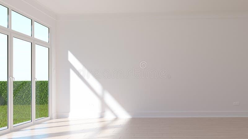 Κενό ηλιόλουστο δωμάτιο στοκ φωτογραφία με δικαίωμα ελεύθερης χρήσης