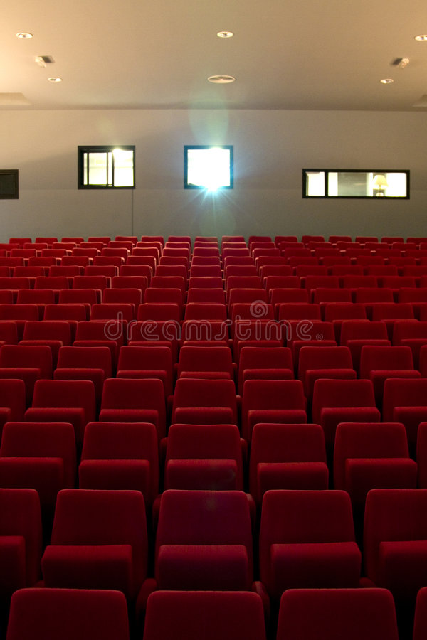 κενό θέατρο διατάξεων θέσ&epsilo στοκ εικόνα