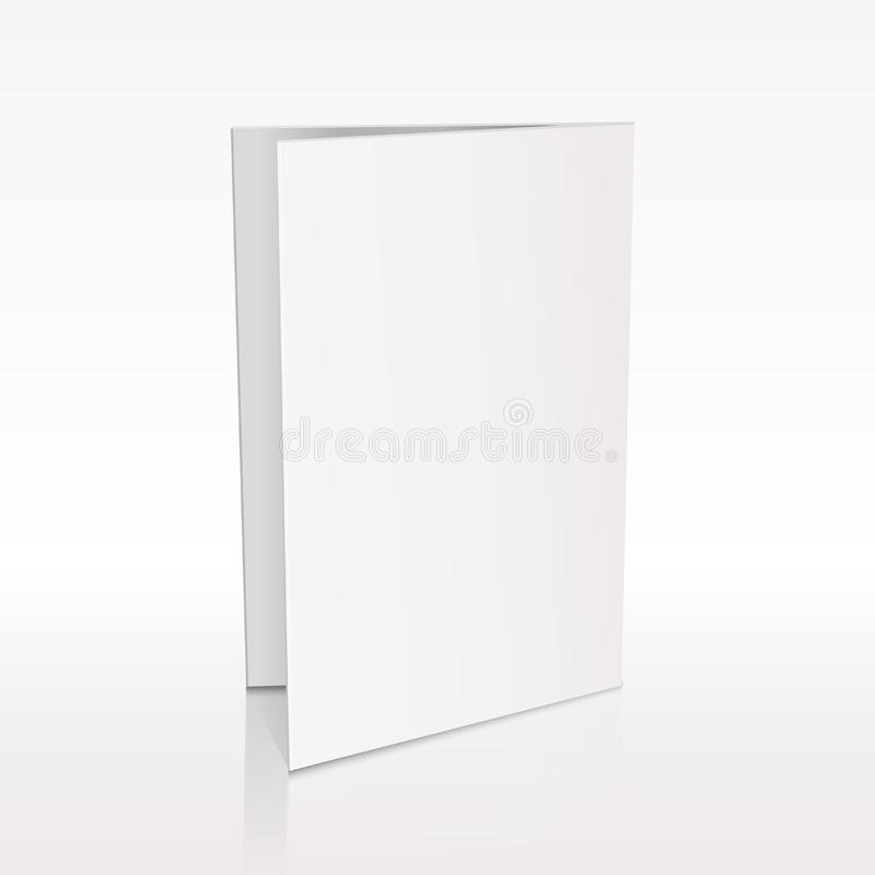 Κενό διανυσματικό τρισδιάστατο πρότυπο φυλλάδιων φακέλλων άσπρο διανυσματική απεικόνιση