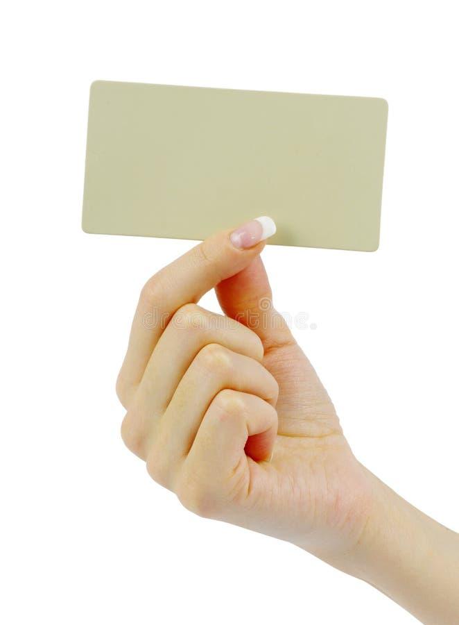 Κενό καρτών διαθέσιμο στοκ φωτογραφίες με δικαίωμα ελεύθερης χρήσης