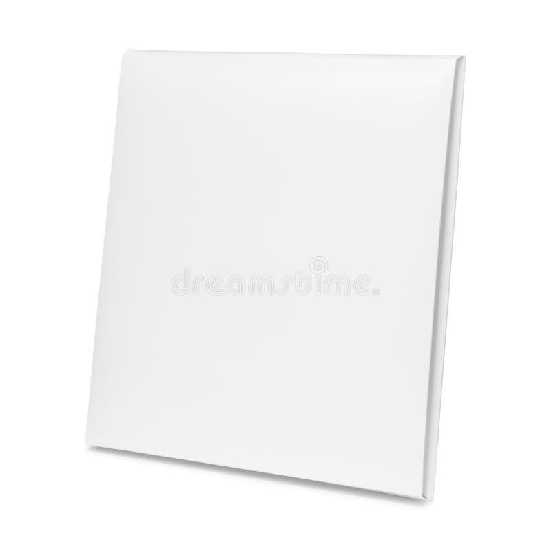 Κενό κιβώτιο εγγράφου που απομονώνεται στο άσπρο υπόβαθρο Κενή συσκευασία χαρτονιού για το σχέδιο r στοκ φωτογραφία με δικαίωμα ελεύθερης χρήσης