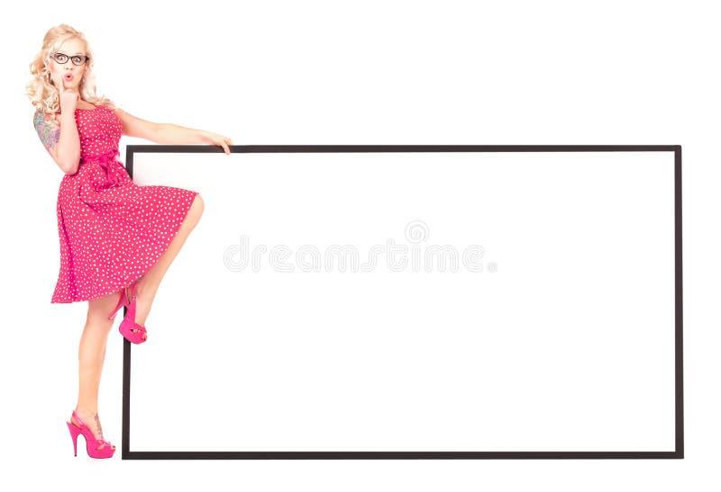 κενό κορίτσι χαρτονιών προ&k στοκ εικόνες