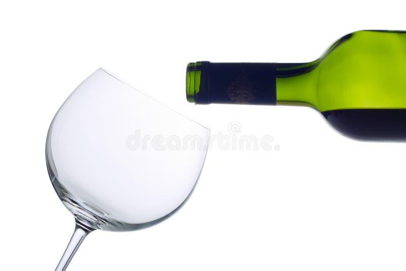 κενό κρασί γυαλιού μπου&kappa στοκ εικόνες