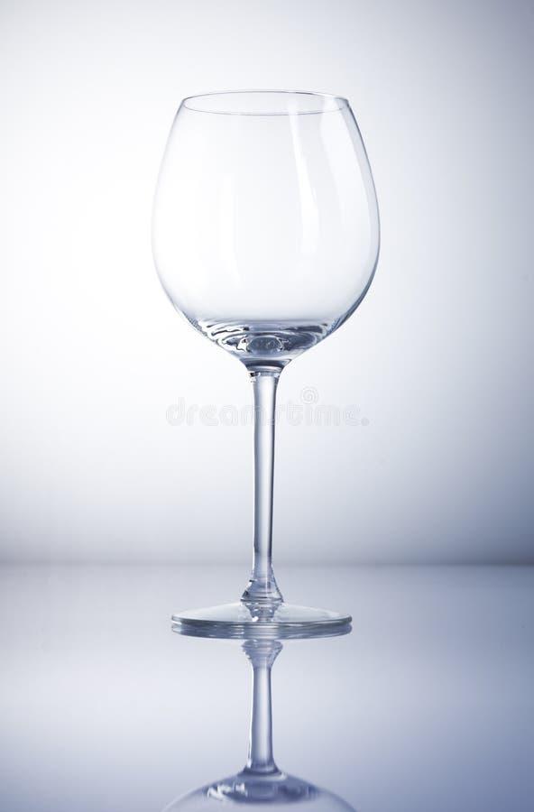 κενό κρασί γυαλιού στοκ φωτογραφία