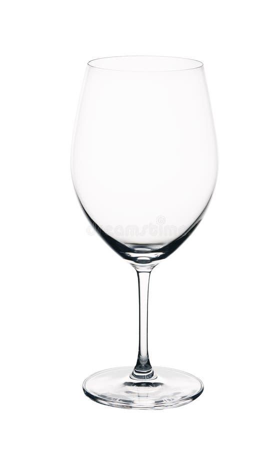 κενό κρασί γυαλιού η ανασκόπηση απομόνωσε το λευκό στοκ φωτογραφία