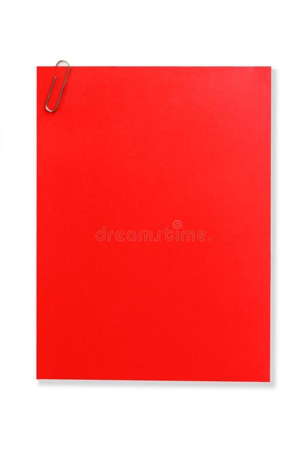 κενό κόκκινο σημειώσεων Στοκ Εικόνες