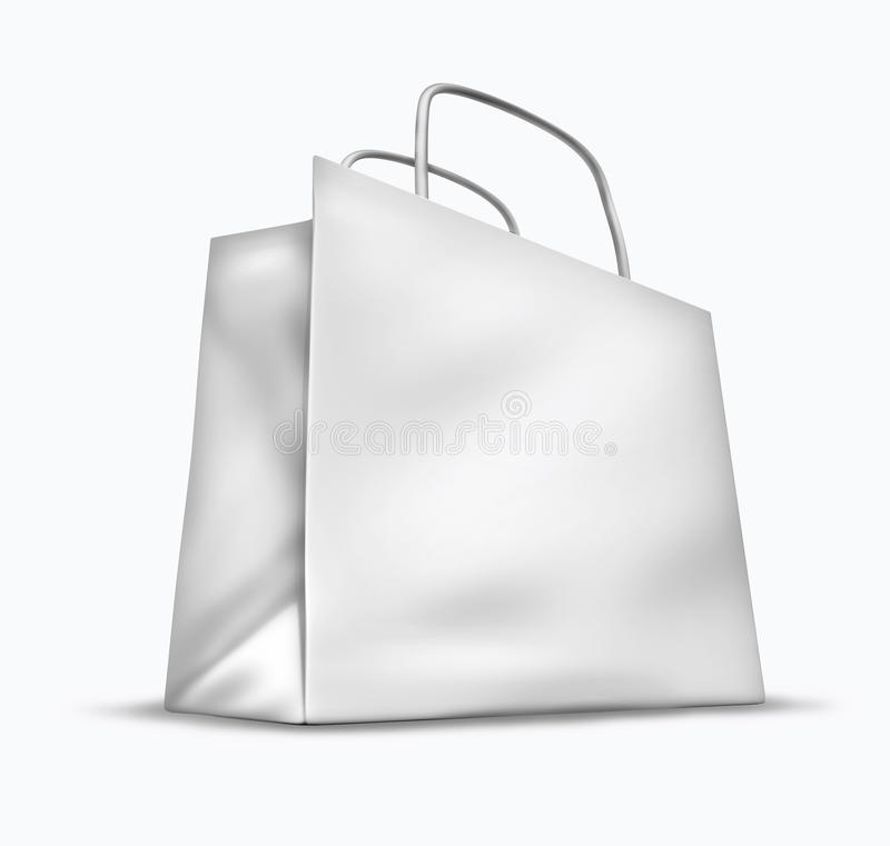 κενό λευκό αγορών τσαντών απεικόνιση αποθεμάτων