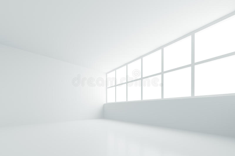 κενό λευκό δωματίων ελεύθερη απεικόνιση δικαιώματος
