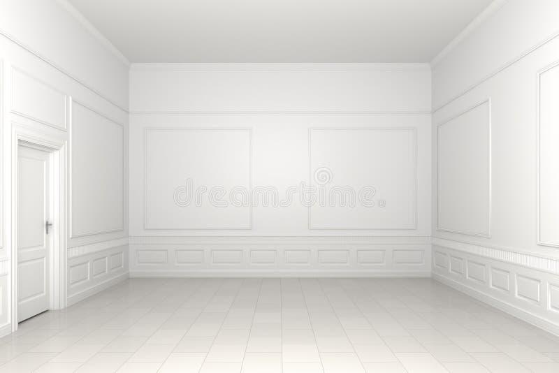κενό λευκό δωματίων διανυσματική απεικόνιση