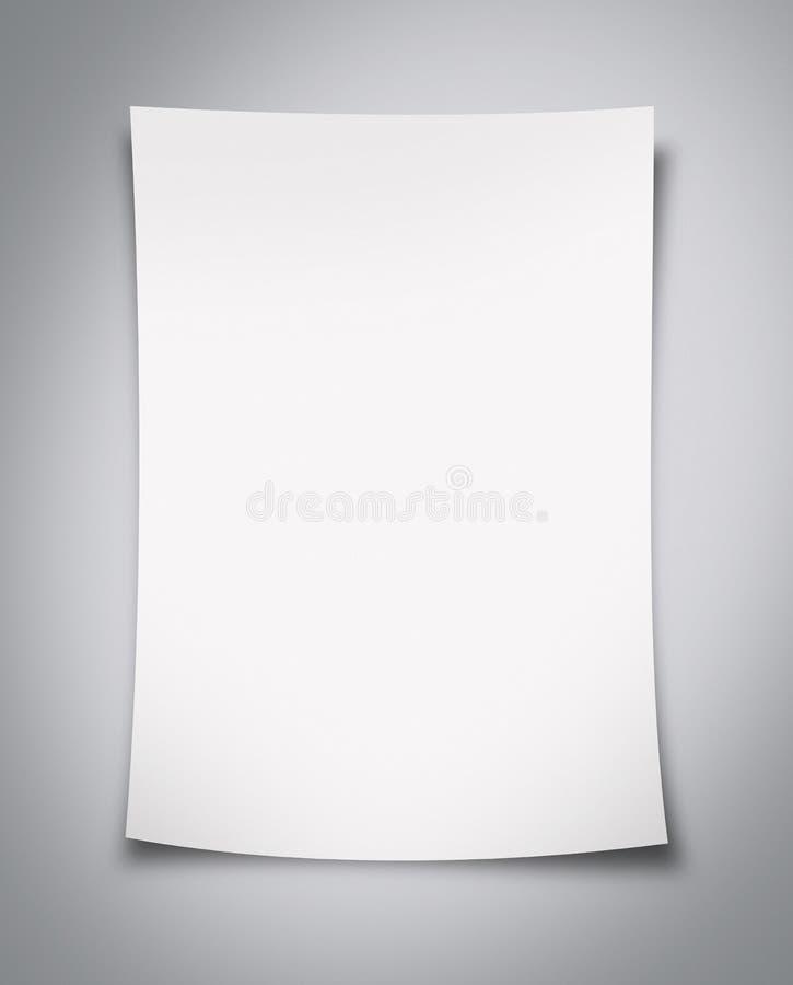 κενό λευκό εγγράφου στοκ φωτογραφίες με δικαίωμα ελεύθερης χρήσης
