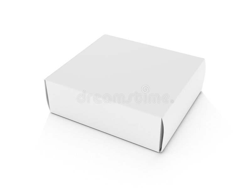 κενό λευκό κιβωτίων ανασ&kap απεικόνιση αποθεμάτων