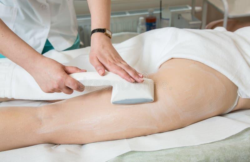 Κενό μασάζ στην κλινική ομορφιάς στοκ φωτογραφία με δικαίωμα ελεύθερης χρήσης