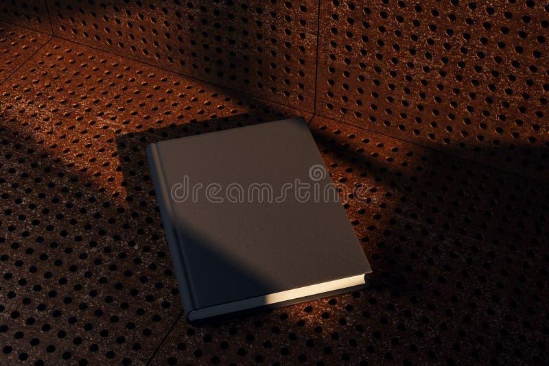 Κενό μαύρο βιβλίο hardcover απεικόνιση αποθεμάτων