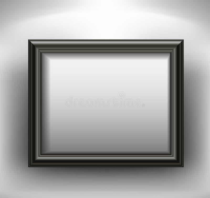 Κενό μαύρο πλαίσιο στον τοίχο απεικόνιση αποθεμάτων