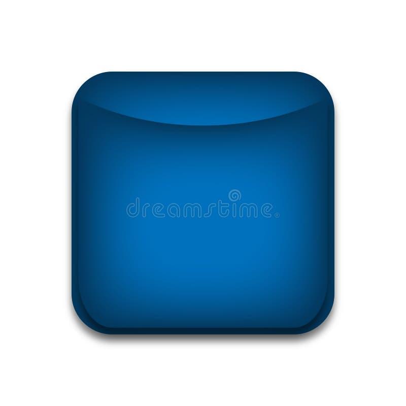 Κενό μπλε κουμπί Ιστού ελεύθερη απεικόνιση δικαιώματος
