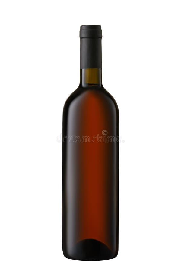 Κενό μπουκάλι κόκκινου κρασιού μπροστινής άποψης που απομονώνεται στο άσπρο υπόβαθρο στοκ φωτογραφίες