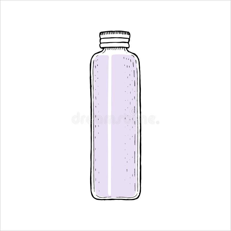 Κενό μπουκάλι με την ΚΑΠ, κενό φιαλίδιο προτύπων εμπορευματοκιβωτίων με τον ψεκασμό, διανομέας, dropper, βάζο, σωλήνας καλλυντική ελεύθερη απεικόνιση δικαιώματος