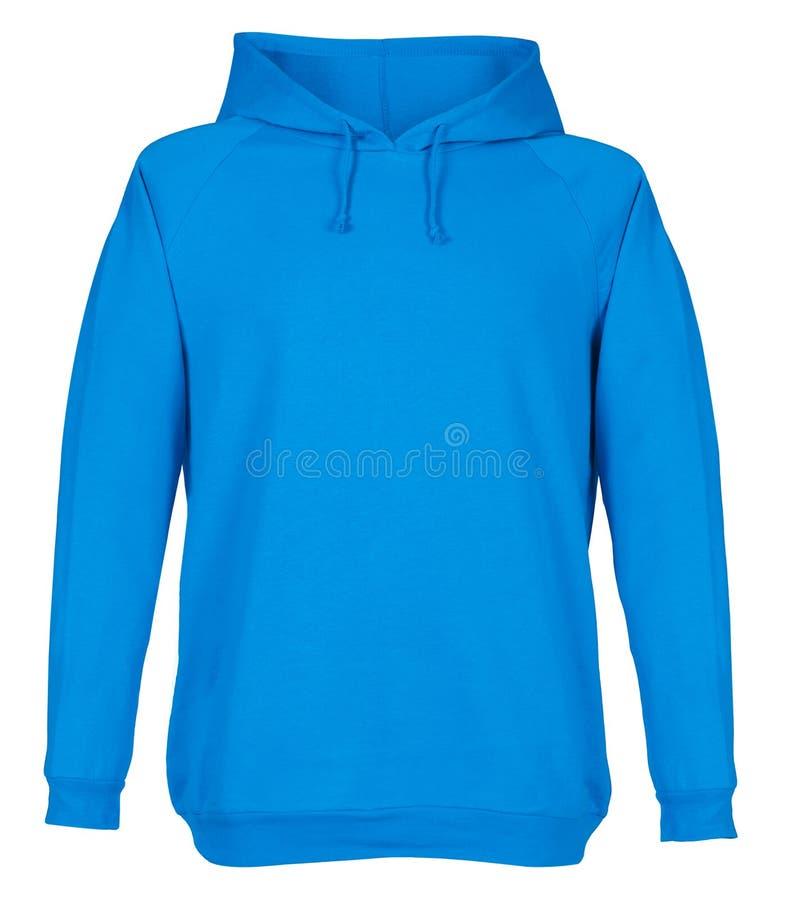 Κενό μπλε πρότυπο μπλουζών που απομονώνεται στο άσπρο υπόβαθρο στοκ εικόνα