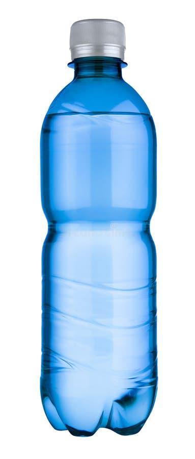 Κενό μπλε πλαστικό μπουκάλι στοκ εικόνες με δικαίωμα ελεύθερης χρήσης