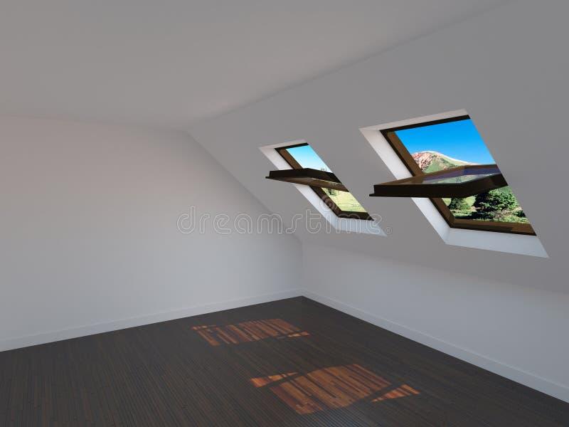 Κενό νέο δωμάτιο διανυσματική απεικόνιση