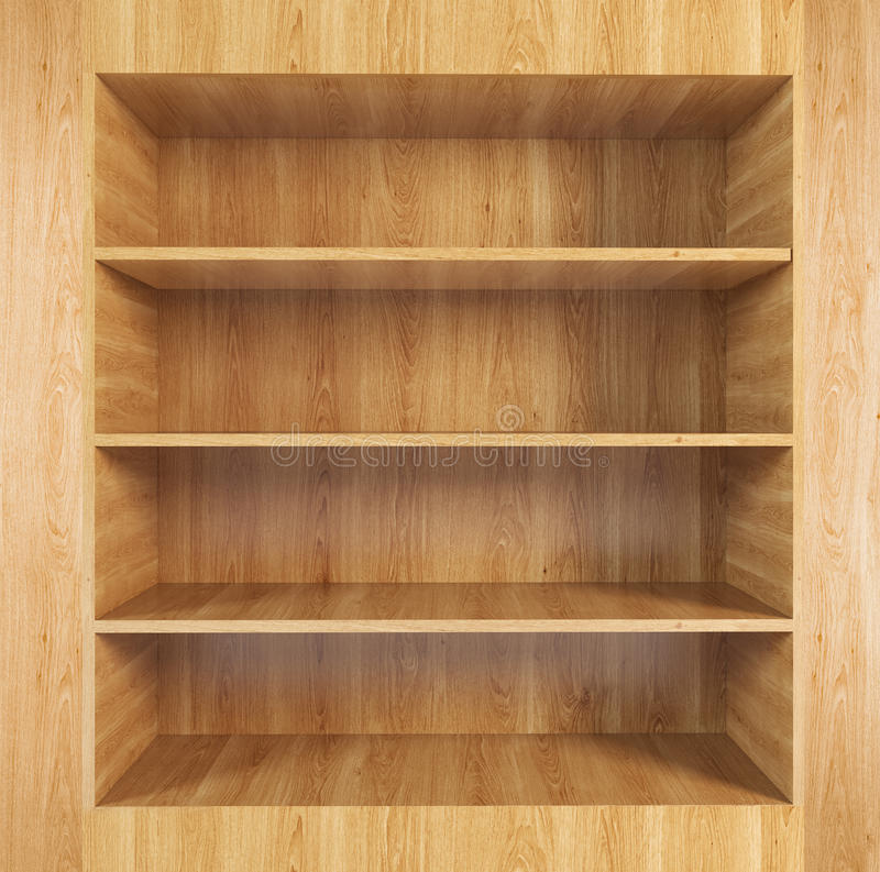 Κενό ξύλινο ράφι διανυσματική απεικόνιση