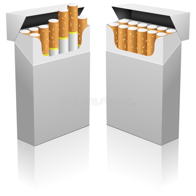 κενό πακέτο τσιγάρων διανυσματική απεικόνιση