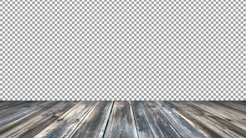 Κενό παλαιό ξύλινο υπόβαθρο επιτραπέζιων κορυφών Για την επίδειξη προϊόντων montage στοκ εικόνες