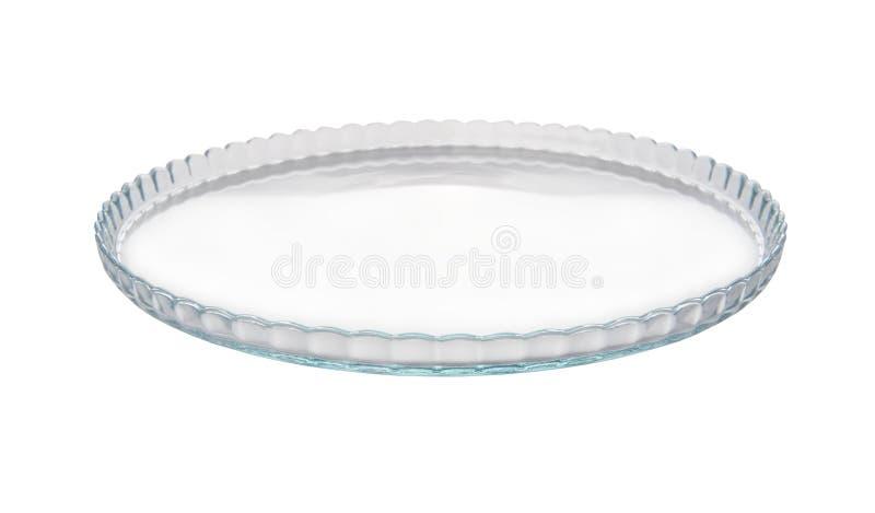 Κενό πιάτο γυαλιού στοκ εικόνες
