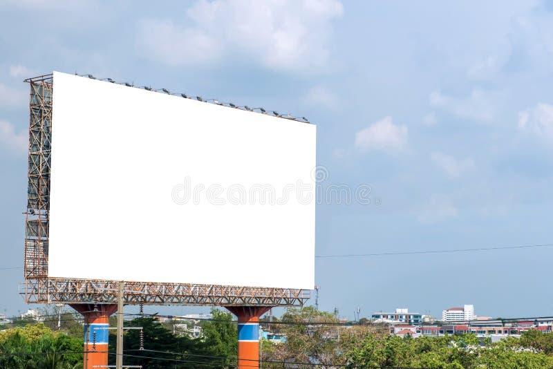 κενό πινάκων διαφημίσεων στο δρόμο στην πόλη για τη διαφήμιση του υποβάθρου στοκ φωτογραφίες με δικαίωμα ελεύθερης χρήσης