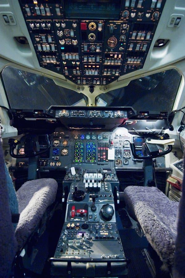 Κενό πιλοτήριο αεροπλάνων απεικόνιση αποθεμάτων