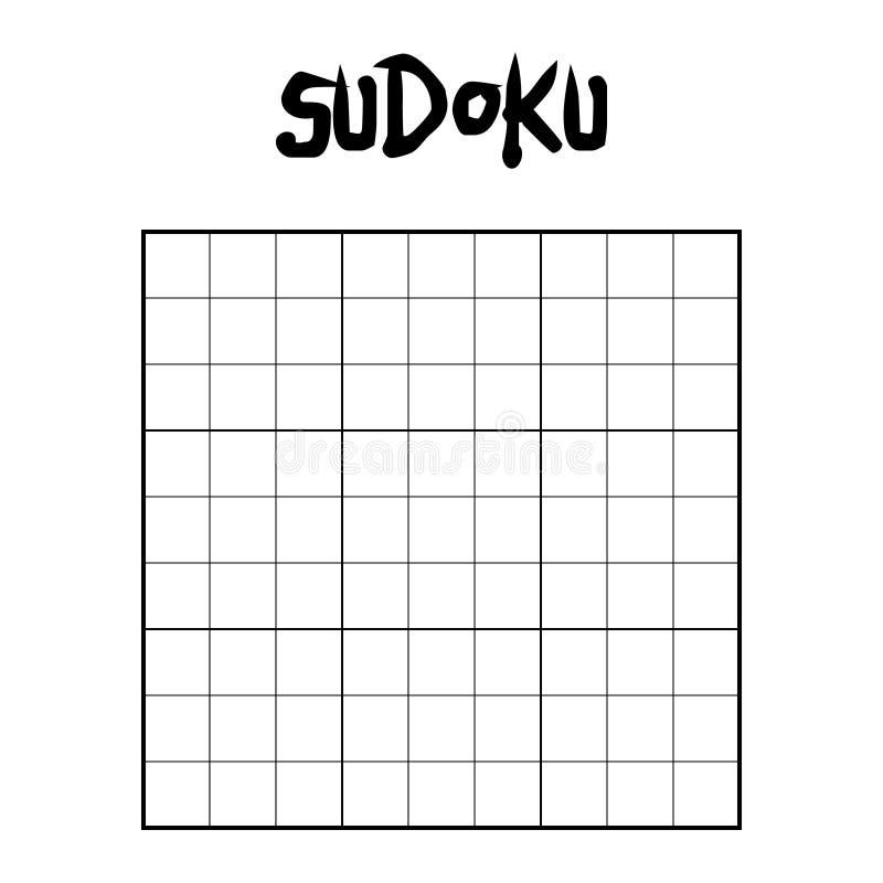 Κενό πλέγμα sudoku διανυσματική απεικόνιση