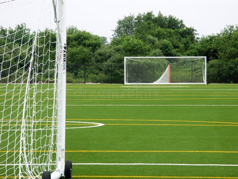 κενό ποδόσφαιρο πεδίων στοκ εικόνα