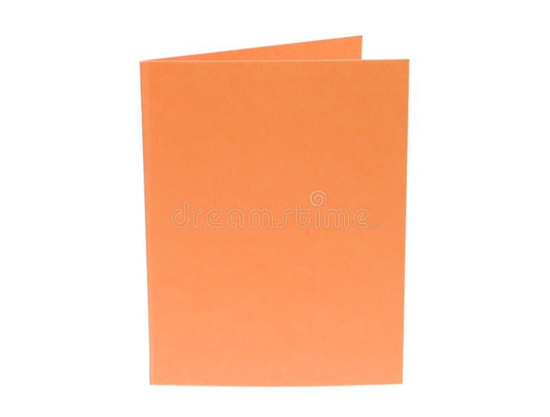 κενό πορτοκάλι καρτών στοκ φωτογραφία με δικαίωμα ελεύθερης χρήσης