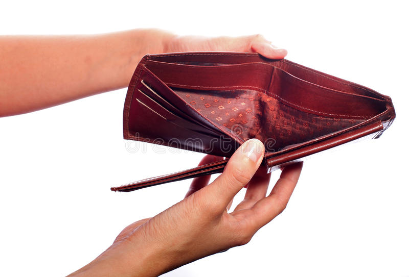 κενό πορτοφόλι στοκ φωτογραφία με δικαίωμα ελεύθερης χρήσης