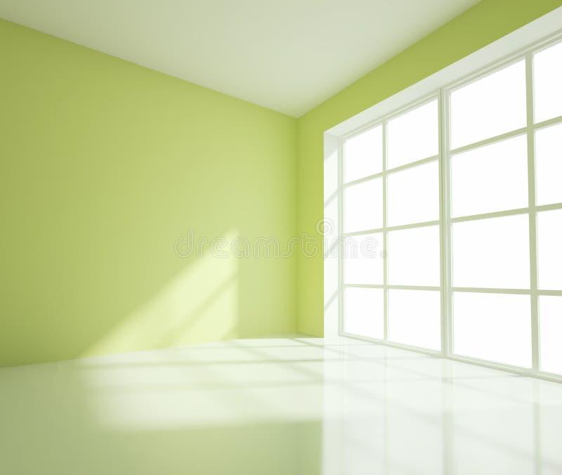 Κενό πράσινο δωμάτιο ελεύθερη απεικόνιση δικαιώματος