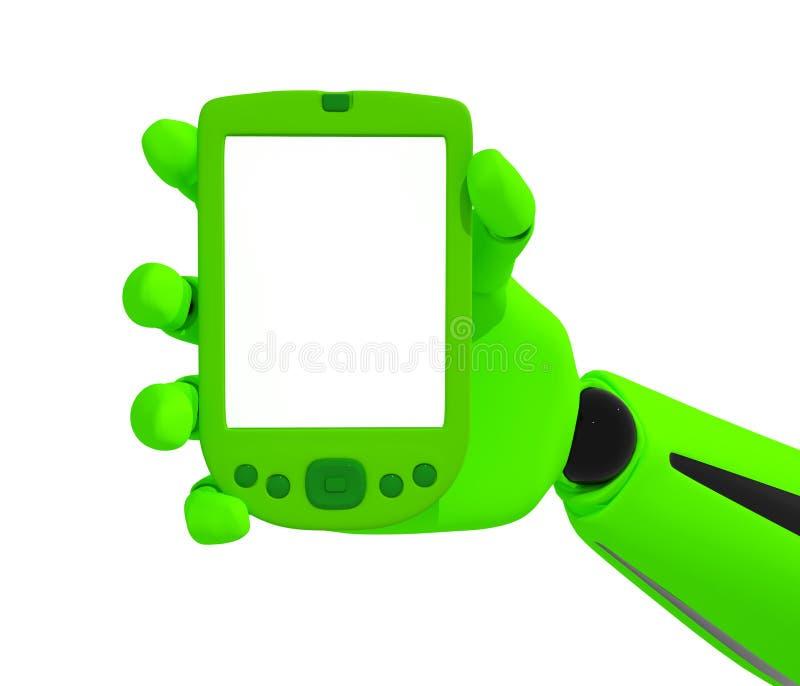 κενό πράσινο κινητό τηλέφων&omicro διανυσματική απεικόνιση