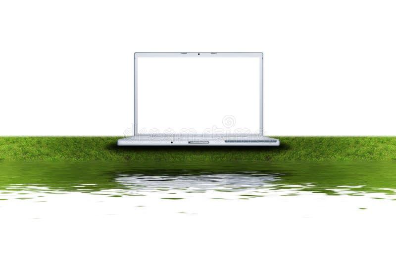 κενό πράσινο lap-top υπολογισ&tau ελεύθερη απεικόνιση δικαιώματος