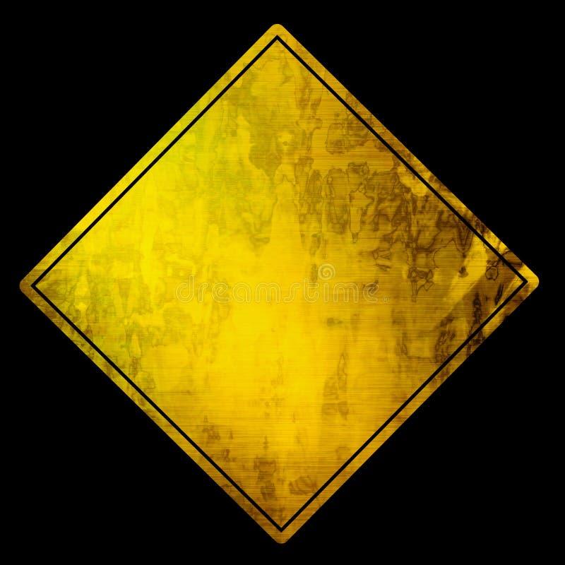 Κενό προειδοποιητικό σημάδι απεικόνιση αποθεμάτων