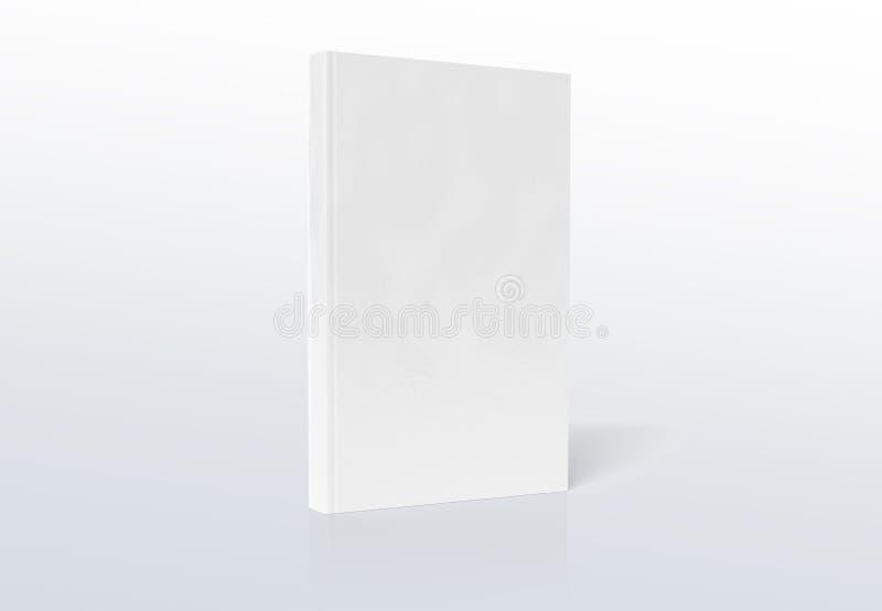 Κενό πρότυπο βιβλίων A4 hardcover που απομονώνεται στην γκρίζα τρισδιάστατη απόδοση ελεύθερη απεικόνιση δικαιώματος