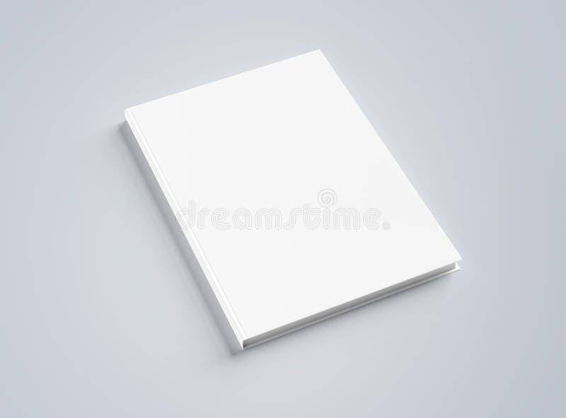 Κενό πρότυπο βιβλίων hardcover στην άσπρη τρισδιάστατη απόδοση ελεύθερη απεικόνιση δικαιώματος