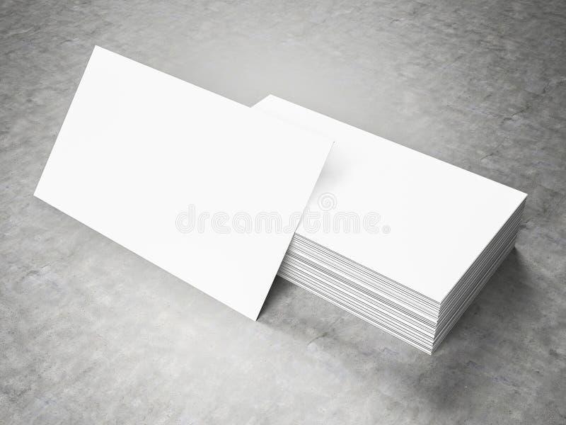 Κενό πρότυπο επαγγελματικών καρτών διανυσματική απεικόνιση