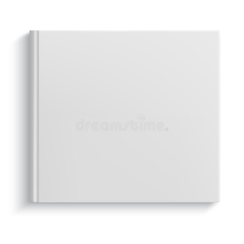 Κενό πρότυπο λευκωμάτων hardcover διανυσματική απεικόνιση