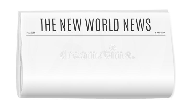 Κενό πρότυπο εφημερίδων ελεύθερη απεικόνιση δικαιώματος