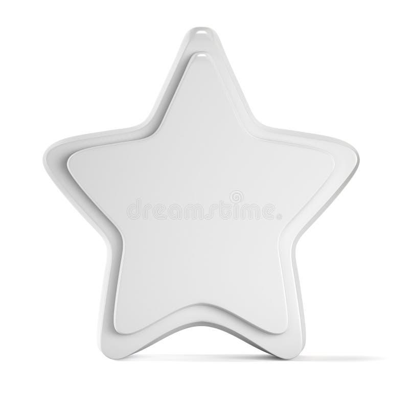 Κενό κενό πρότυπο προτύπων αστεριών που απομονώνεται στο άσπρο υπόβαθρο 3 ελεύθερη απεικόνιση δικαιώματος
