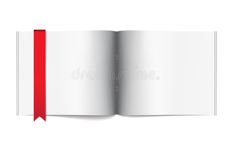 κενό πρότυπο σελίδων περιοδικών σχεδιαγράμματος σχεδίου διανυσματική απεικόνιση