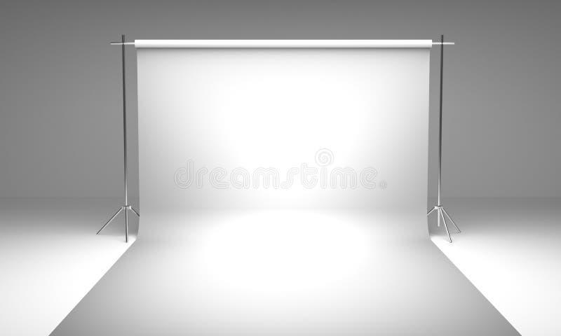 Κενό πρότυπο υποβάθρου στούντιο φωτογραφίας στοκ φωτογραφίες